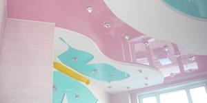 Натяжные потолки в детской: преимущества и особенности применения